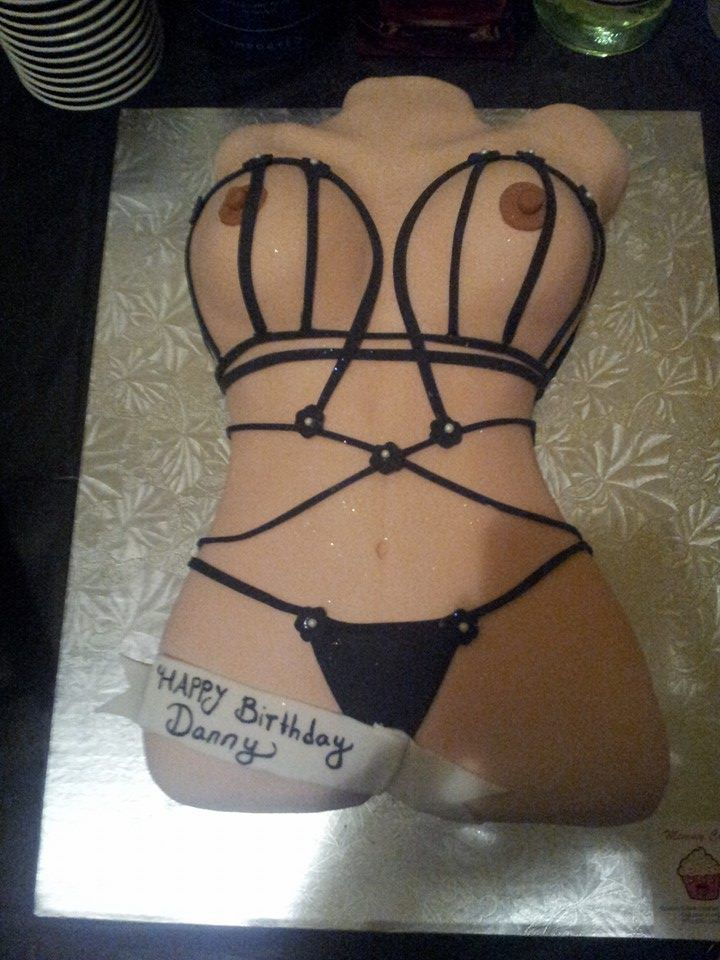 Naughty stripper cake
