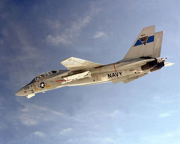 F-14 Tomcat carrying an AIM-120 AMRAAM during a 1982 test