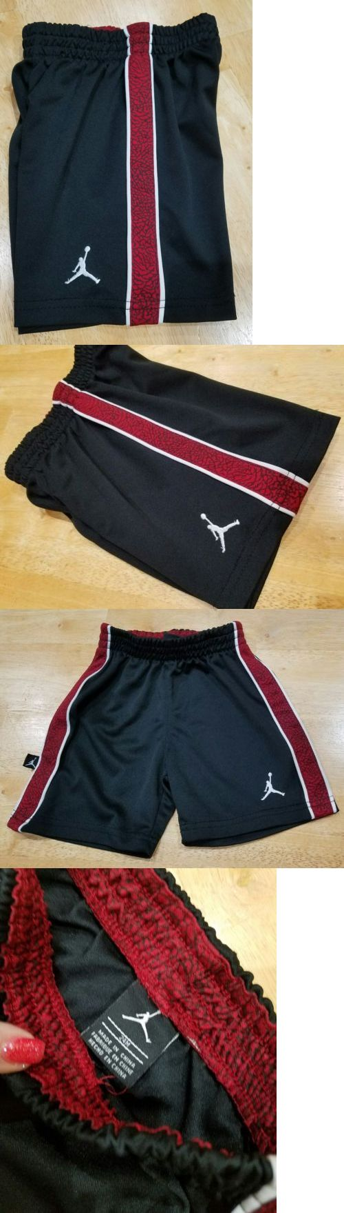 Michael Jordan Baby Clothing: Michael Jordan Basketball Shorts Size 24 Months Black And Red - Nwot -> BUY IT NOW ONLY: $2.99 on eBay!