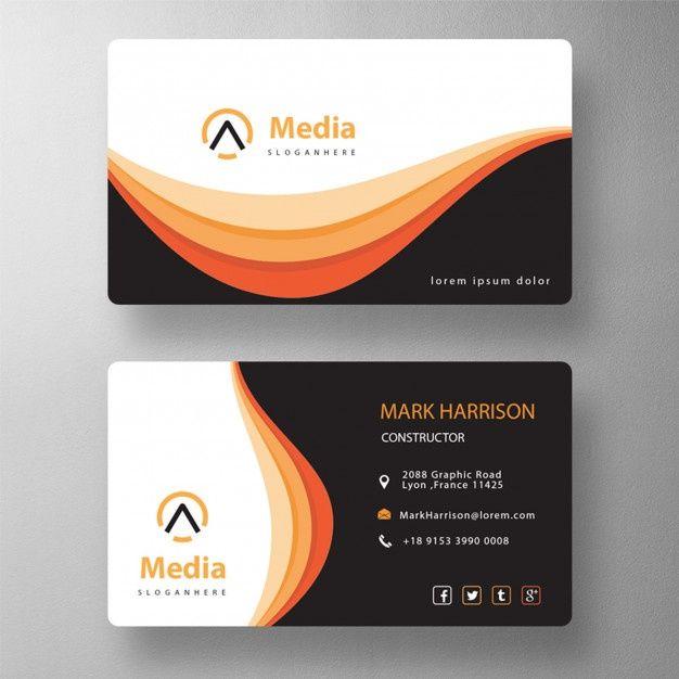 Download Orange Elegant Psd Visit Card For Free Business Card Mock Up Visiting Cards Colorful Business Card