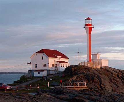 Cape Forchu Lighthouse, near Yarmouth, Nova Scotia