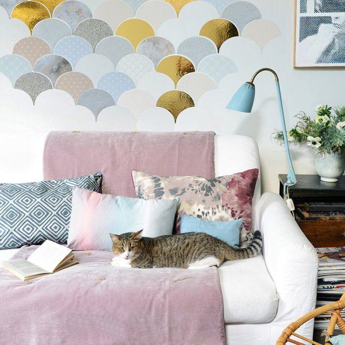 Réaliser une décoration murale à l'aide de feuilles de papier - DIY wall decor with paper