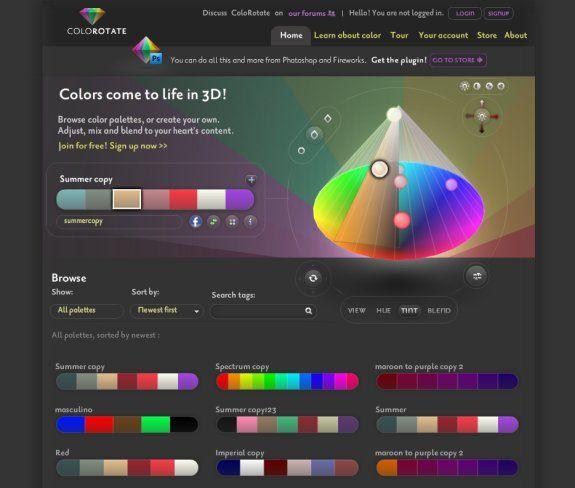 10 Color Scheme Generators For Web Designers.