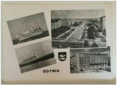 Wyd. Fotoplastyka Sopot Skwer Kościuszki, Urząd Miasta, M/Mazowsze i Batory Kartka wydana po 1955r.