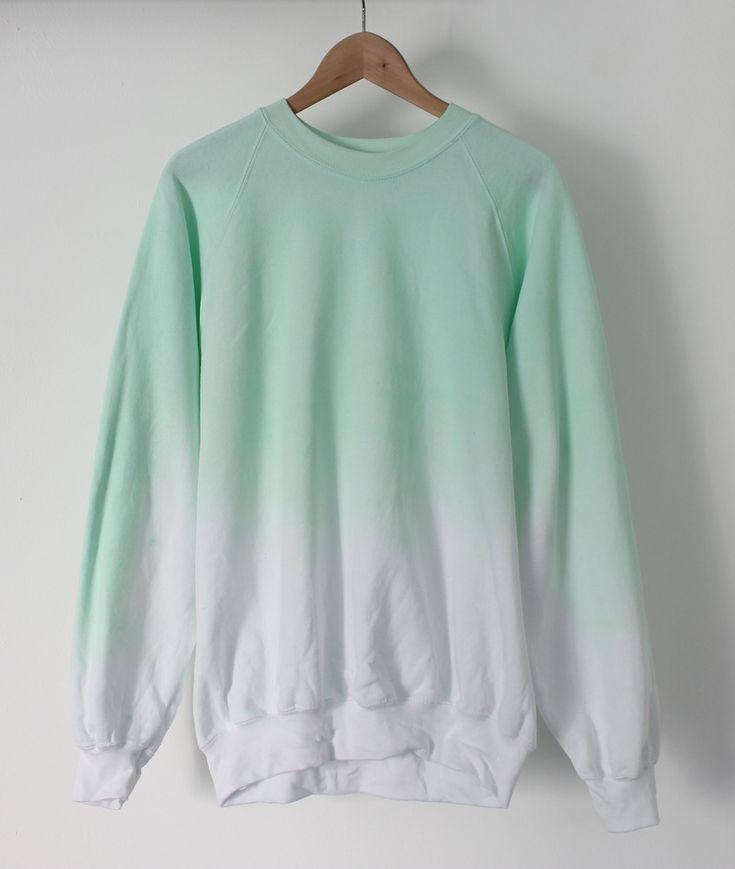 Image of Mint Ice Dip Dye Sweater