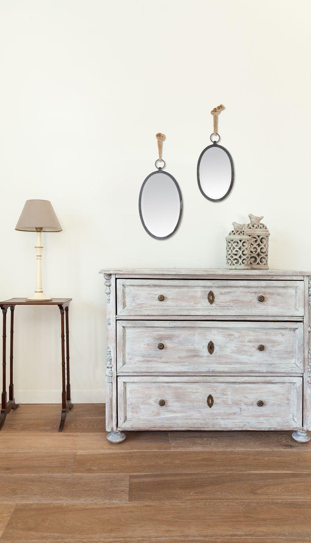 2 Spiegel mit Schnur zum Aufhängen