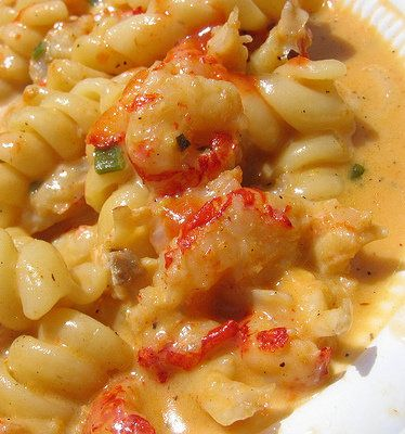 Crawfish Pasta and Cream Sauce - Try this New Orleans recipe for what is undoubtedly one of the most popular foods at Jazz Fest!