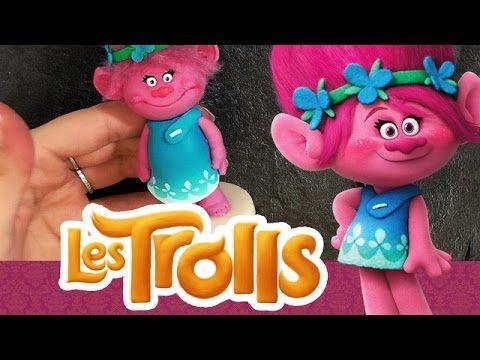 TUTO FIMO: Les Trolls Dreamworks ! Figurine Poppy ! | Poppy Trolls polym...