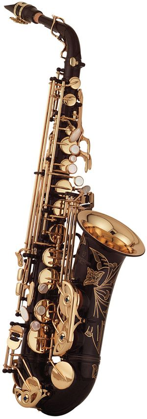Yanagisawa A991B Alto Saxophone-engraved special brown and brass with mother of pearl keys. SO PRETTY!!