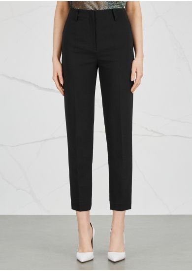 f71210804b5 BY MALENE BIRGER Costas black cropped trousers - Harvey Nichols | TV ...
