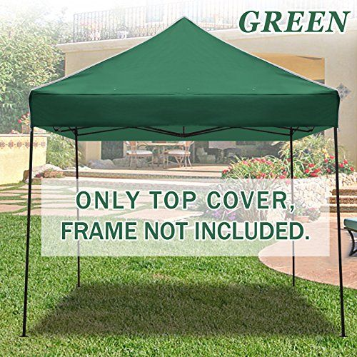 STRONG CAMEL Ez pop Up Canopy Replacement Top instant 10X10 gazebo EZ canopy Cover patio pavilion sunshade Polyester (Green) For Sale https://bestcampingtent.review/strong-camel-ez-pop-up-canopy-replacement-top-instant-10x10-gazebo-ez-canopy-cover-patio-pavilion-sunshade-polyester-green-for-sale/