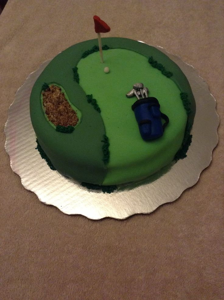 "Golf cake decorations/ Pastel De fondant con decoración de campo de golf ""Delicias D'Fabis"""