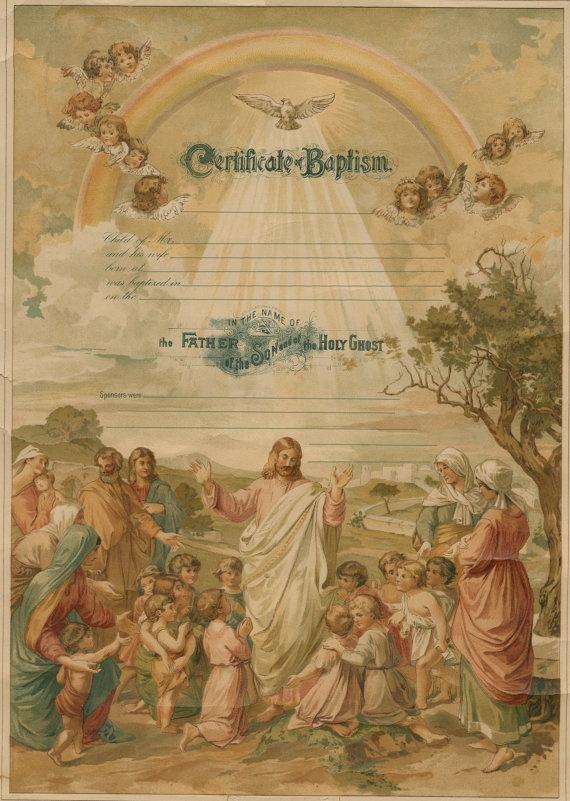 208 best CalligraphyCertificates images on Pinterest - baptism certificate