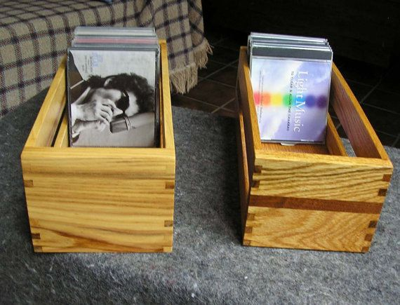 Handcrafted Wooden CD Storage Box by StillpointWoodworks on Etsy
