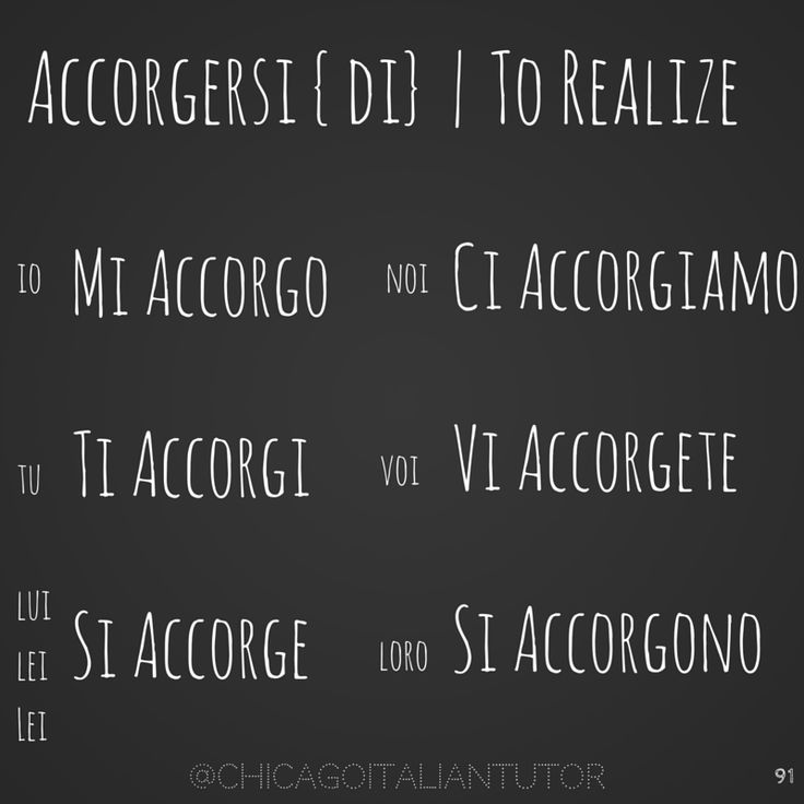 Accorgersi / to Realize