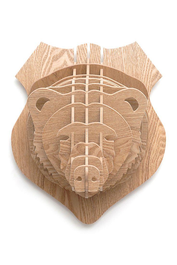 3D Oak Bear Head on HauteLook
