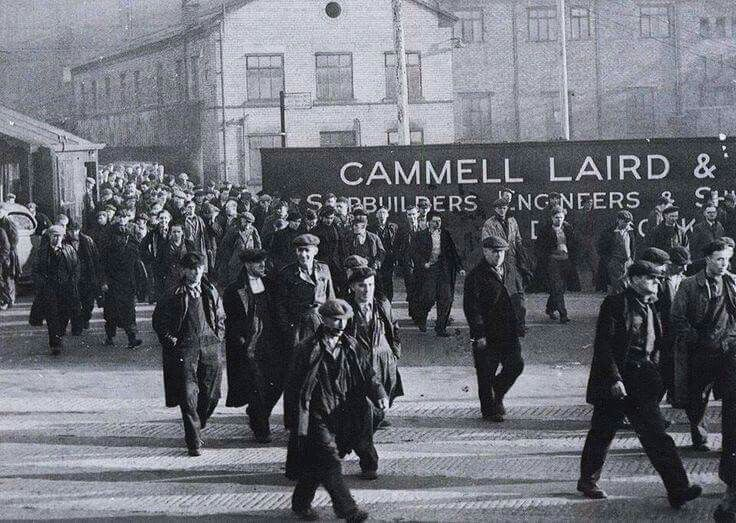 Home time at Cammell Lairds, Birkenhead