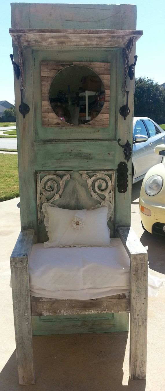 One of a kind Shabby Chic Hall Tree by UnicoleImpressions on Etsy, $600.00