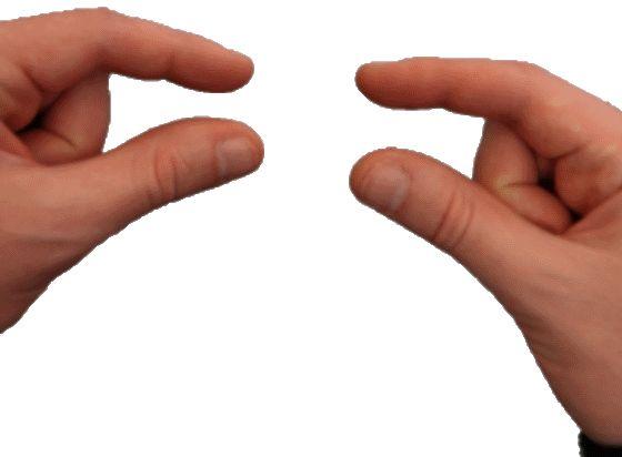 Faire une pince avec ses doigts