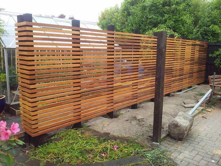 Modernistic Wooden Garden Fence #gardenfences