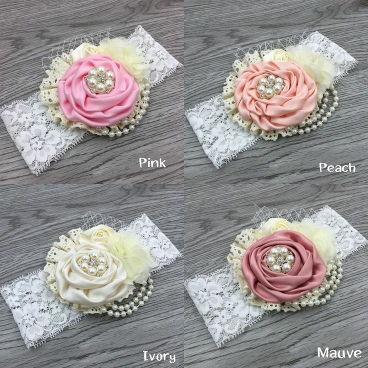 Reatil! Satin Flower Headband Matching Sparking Rhinestone Chiffon Flower Headband Lace Headband Baby Headband-in Hair Accessories from Mother & Kids on Aliexpress.com | Alibaba Group