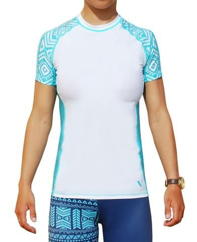 Women's rash top for surf ski and paddle boarding