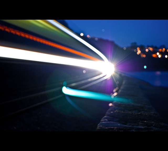Light Trails at the Subway! Rock'd!
