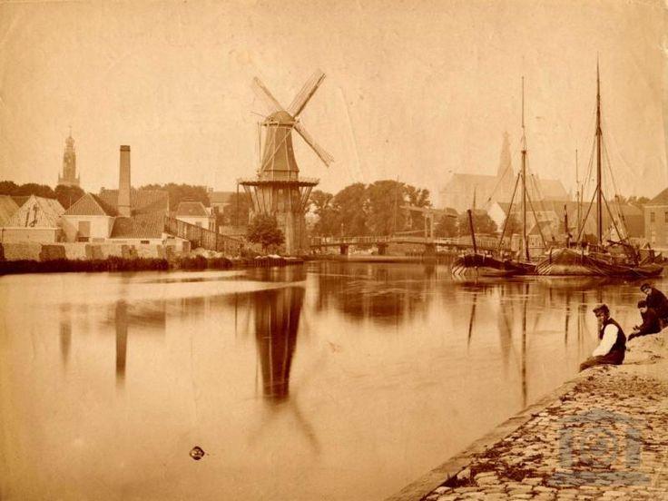 Haarlem Spaarne rond 1875