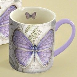 Lavender Butterfly Coffee Mug