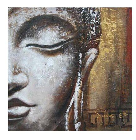 NEW!! Oil Wall Art,Wall Canvas Art,Modern Abstract Asian Buddha Canvas Oil Painting:BU#031(China (Mainland))