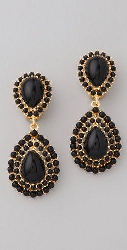 Gold & Onyx Earrings