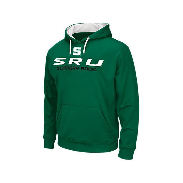 Men's Slippery Rock University College Pullover Hoodie ($40) ❤ liked on Polyvore featuring men's fashion, men's clothing, men's hoodies, green, mens sweatshirts and hoodies, mens green hoodie, mens long hoodie, mens hooded sweatshirts and mens hoodie