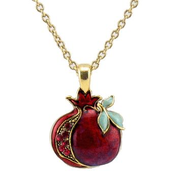 pomegranate design | enameled pomegranate necklace by designer quest 1 jdc 92561 list price ...