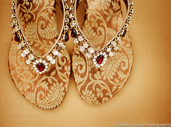 Wedding shoes for an Indian Bride #wedding #indian