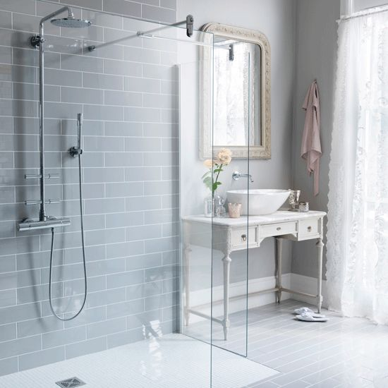 The bath-sized shower | Small bathrooms | 10 decorating ideas | Homes & Gardens | Housetohome.co.uk