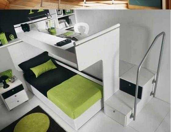 Cama abajo escritorio arriba cuartos infantiles for Litera escritorio debajo