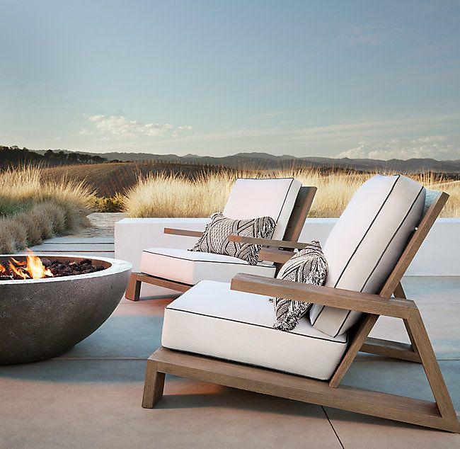 Olema Teak Lounge Chair   – draußen Leben