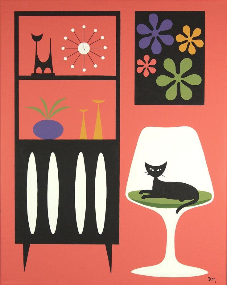 Mid Century Modern Art by Donna Mibus