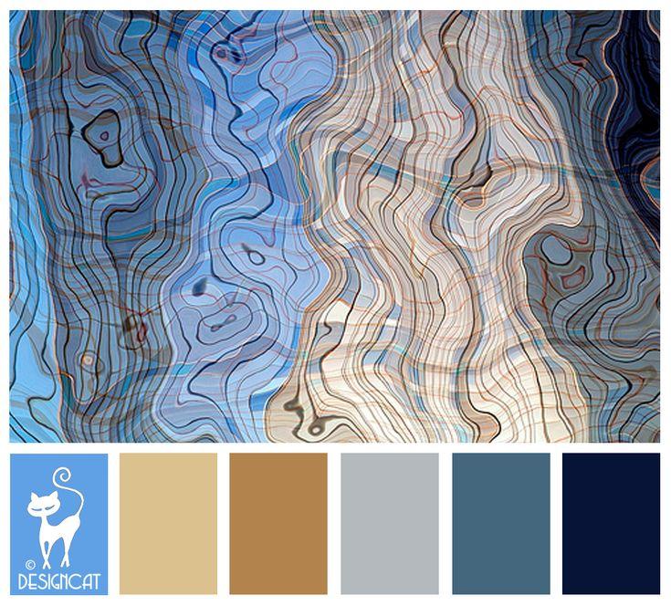 Blur Grain - Navy Blue, slate, pastel, grey, beige, sand,