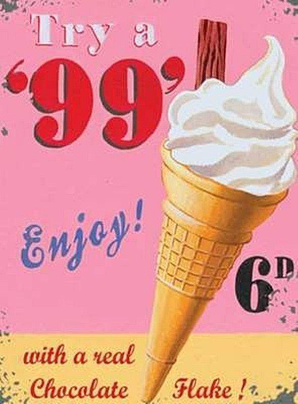99 Crème Glacée Cône,Vintage Boutique cuisine café Nourriture Vieux,Mini Métal/ • EUR 2,19 - PicClick FR