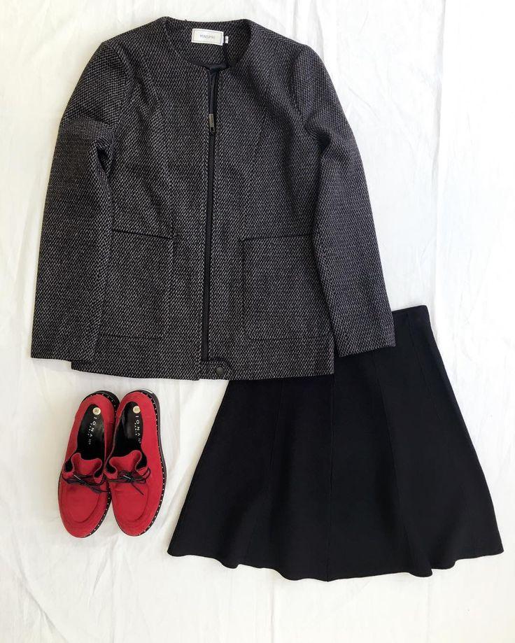 """ソワレ&ローブ パリの洋服屋 on Instagram: """"❣️NEW❣️ ジャケット / スカート / くつ / ウールのジャケットが、ジップブルゾンになりました❣️ 中に沢山着込まず、Tシャツやブラウスの上に バサっときます。 カジュアルだけど、形は少しお堅いので、 カジュアルすぎる事なく、きれちゃいます💕 パーカーや、カーディガンの代わりですが、 防寒機能は分厚いセーター並み💕 ラスト1です( ´ ▽ ` )ノ💕 ✨✨✨✨✨✨✨✨✨ #soirée広島 #minspri #服 #フランス #サンダル #スカート #ブラウス #kosmika #パリ #おしゃれ#コーデ #fashion #soirée広島 #広島 #ラソワレアパリ #biscote #shineblossom#belair#ash #スニーカー#サイフ#通販#ドレス#今日のコーデ#シンプル#カジュアル#parisスタイル#TERIAYABAR"""""""