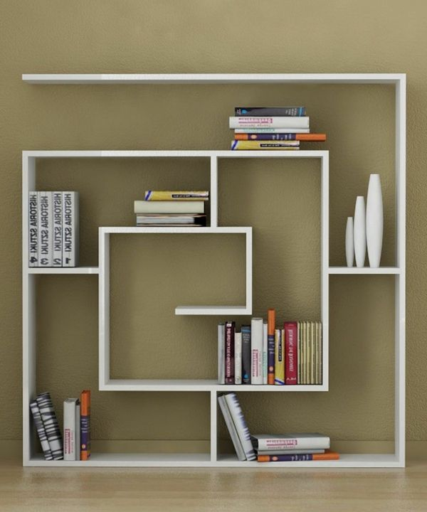 wohnzimmer bibliothek trendig schubladen schränke design ideen