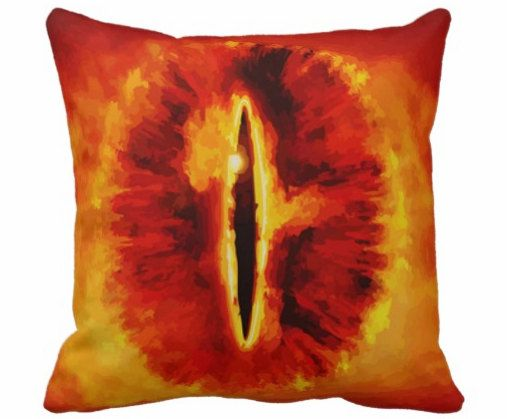 Eye of sauron lord of the rings inspired geek pillow for Lord of the rings bedroom ideas