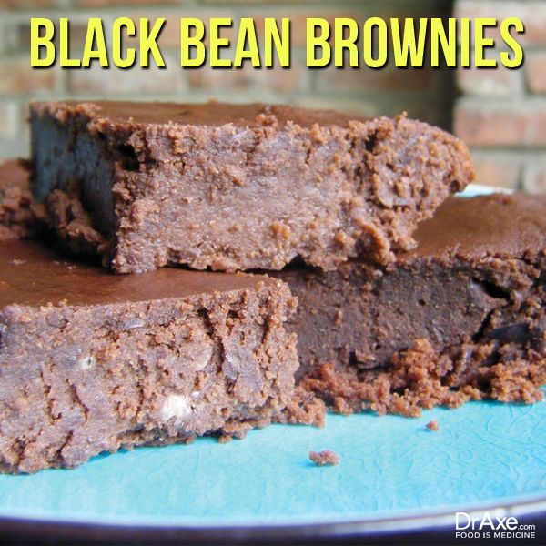 Black Bean Brownies•1 can (15oz) black beans, drained •1/2 cup cacao powder •4 tbsp coconut oil, melted •3/4 cup raw honey •2 tsp stevia  •1 tsp vanilla extract •3 eggs •1/2 cup gluten free flour •1/4 tsp sea salt •1/4 cup water