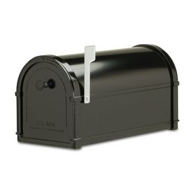 Architectural Mailboxes 10-in x 11-1/4-in Metal Black Post Mailbox ***Thoughts for a wedding cardbox.