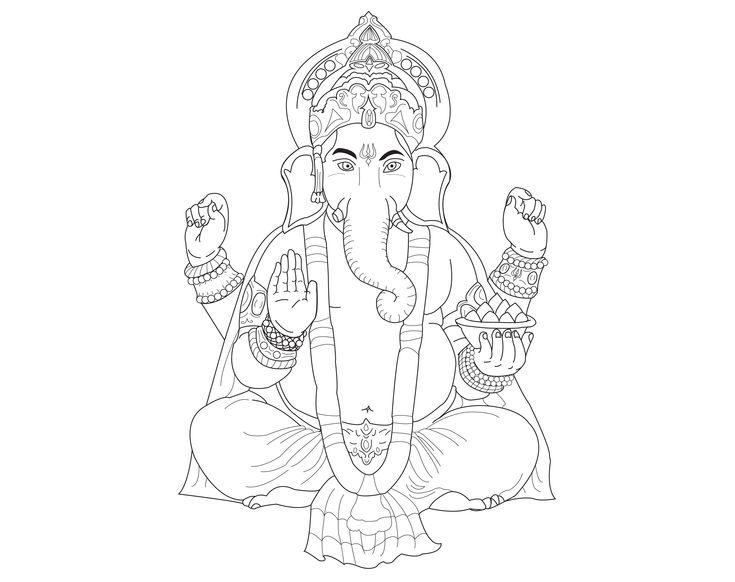 ganesh le dieu hindou de la sagessea partir de la galerie bollywoodartiste allan