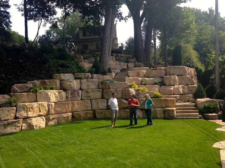 Best 20 Boulder retaining wall ideas on Pinterest Rock wall
