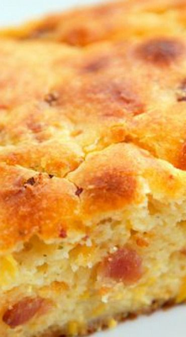 """Cracked Out"" Sour Cream Cornbread 1 cup self rising corn meal. 1 cup sour cream1 cup creamed corn1 1/4 cup shredded cheddar cheese1/3 cup cooked, chopped bacon1 Tbsp dry Ranch dressing mix2 eggs1/2 cup vegetable/canola oil    Preheat oven to 450 degrees. Lightly spray an 8x8-inch pan with cooking spray.   Mix together all ingredients. Pour into prepared pan.   Bake for 30 to 35 minutes, until golden brown."