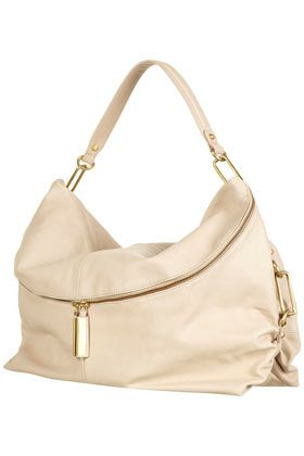 Clip And Leather Slouch Bag - Bags & Wallets  - Accessories  - Topshop USA
