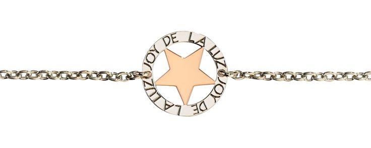 Joy de la Luz   Silver bracelet star rosé  €39,95
